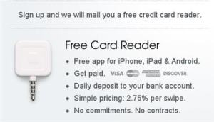 Square Credit Card Reader for Android iPhone now Free!